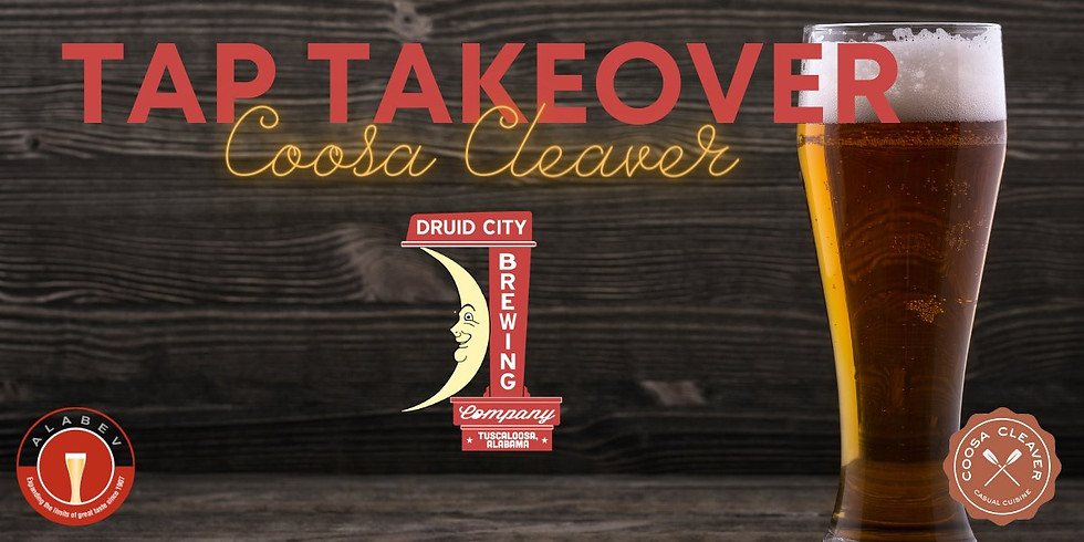 Druid City Tap Takeover at Coosa Cleaver