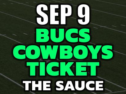 Buccaneers vs Cowboys VIP Bet Ticket