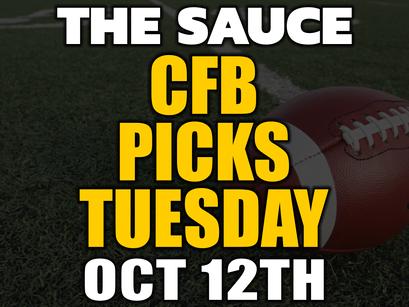 College Football Picks Tuesday 10/12
