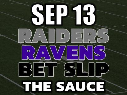 Raiders vs Ravens MNF Bets September 13th