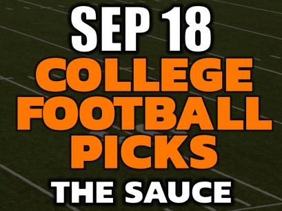 College Football Picks Saturday September 18th
