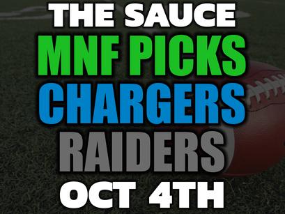 Chargers vs Raiders Picks Monday Night Football 10/4
