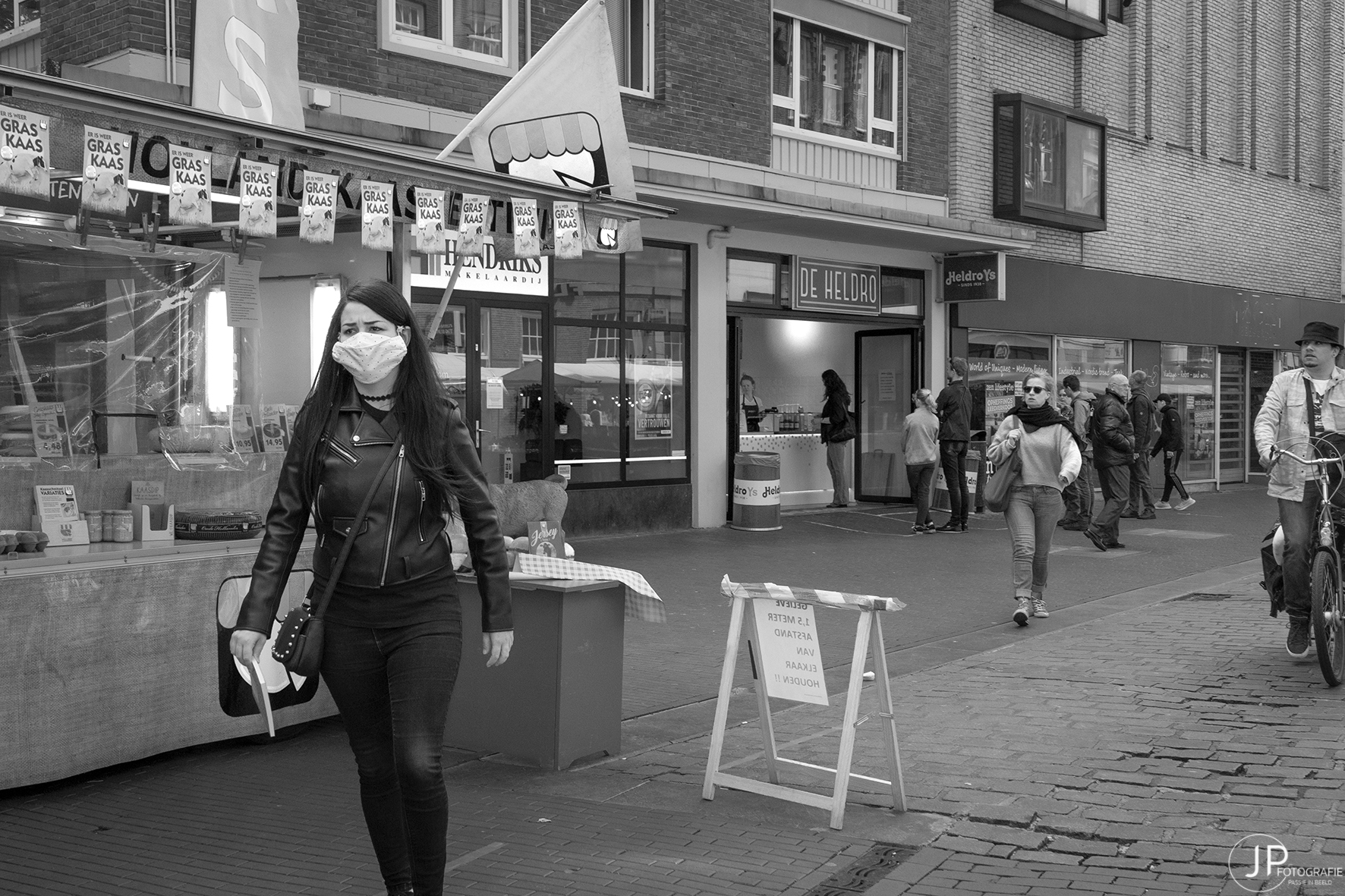 mondkapjes worden in te straatbeeld opgenomen