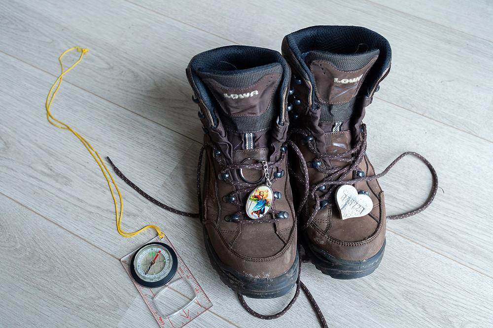 Deze schoentjes brengen me naar Santiago