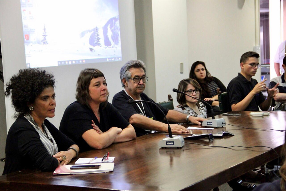 Da esquerda para a direita: Dra. Elisiane dos Santos do MPT, Patricia Pavanelli do IBOPE, Dr. José Carlos do Carmo e secretária adjunta da SMPED, Marinalva Cruz