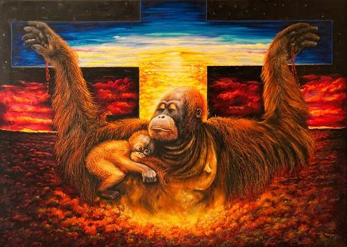 The crucifiction of Orangutans