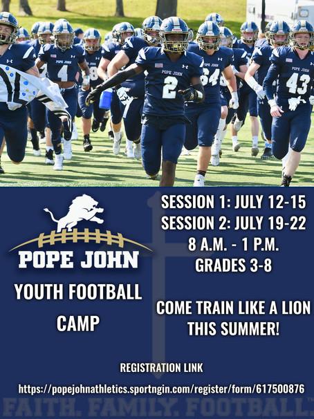 Pope John Youth Football Camp