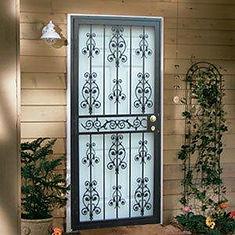 New front door with security screen door - American Horizon