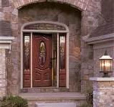 New decorative front door with side panels - American Horizon