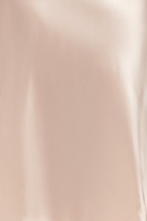 Ginia Sonata Ruffle Trim Silk Chemise in Rosewater