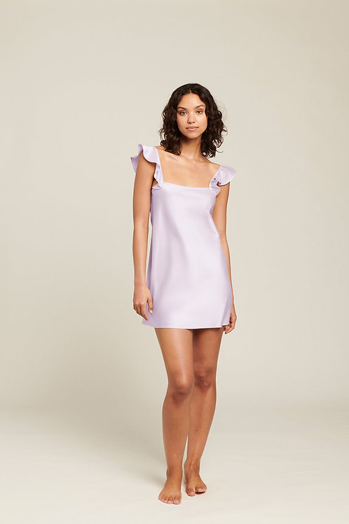 Ginia Isabeau Fluted Chemise in Orchid