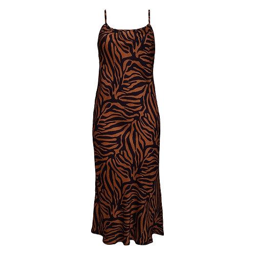Underprotection Rania Slip Dress in Tiger Print