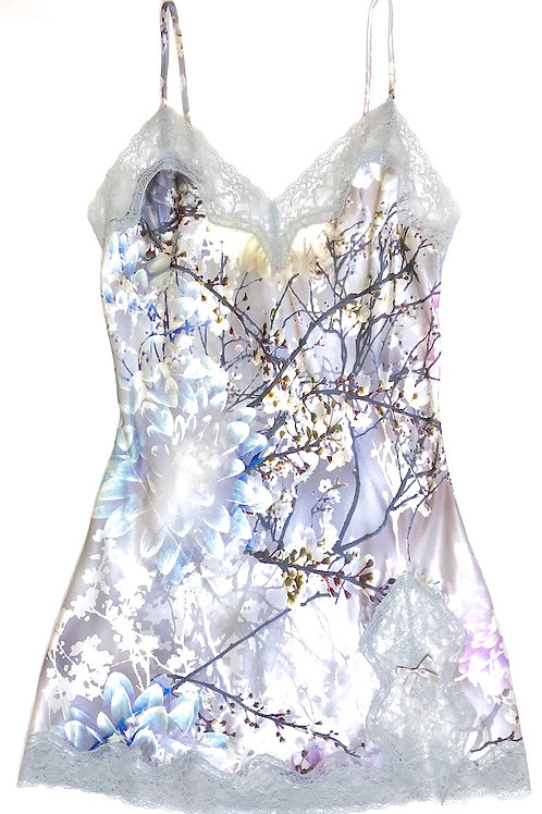 Samantha Chang Classic Silk Babydoll in Love Letter Print