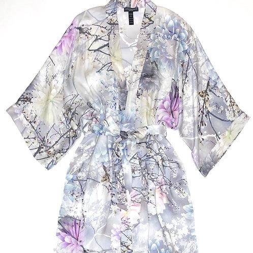 Samantha Chang Classic Silk Short Kimono in Love Letter