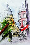 Pen & Wash Cityscape