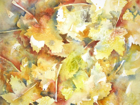 Autumn Leaves & Negative Painting with Liz Chaderton