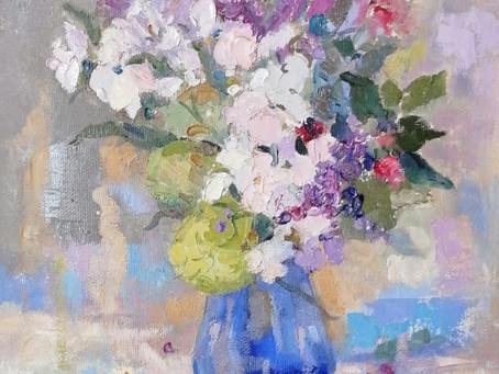 Jug and Geraniums with Elinor Carleton-Smith