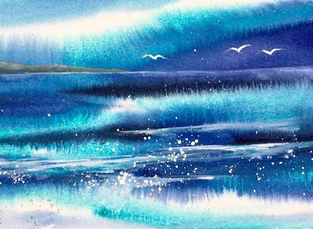 Paint a shoreline with Jane Betteridge