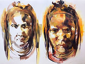 Mixed Media Tribe Portrait