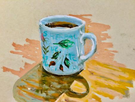 A Pastel 'Mug Shot' with Margaret Glass