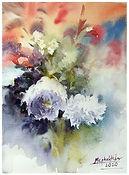 Still life flower arranging