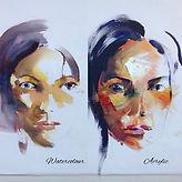 Watercolour vs. Acrylic Portraits
