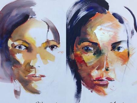 Portrait Study: Watercolour vs Acrylic with Derric Van Rensburg