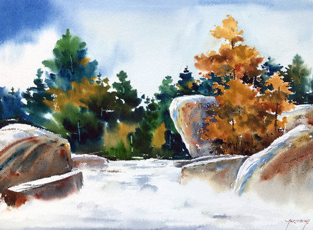 Paint Flowing Water in Watercolour with Sujit Sudhi
