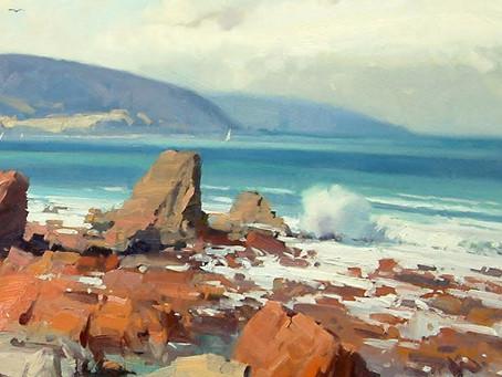 Sketch Crashing Waves in New Zealand with John Crump