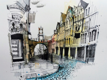 Sketch your High Street in Henley with Ian Fennelly