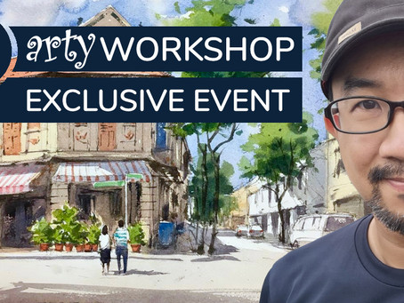 Workshop: Painting a Vibrant Streetscape in Watercolour with Marvin Chew