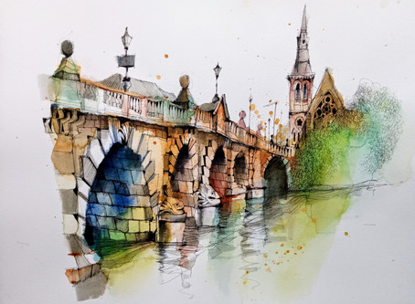 Sketch the Charles Bridge with Ian Fennelly