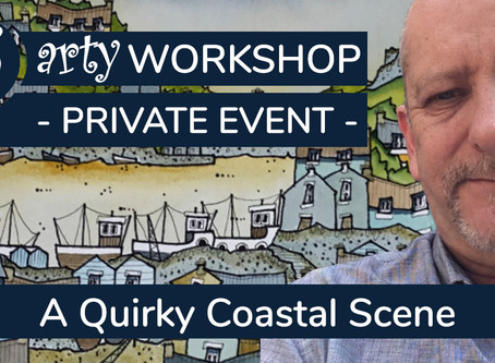 2hrs+ Workshop: A Quirky Coastal Scene with John Devitt