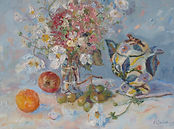 Ardmore Jar with Flowers and Fruit