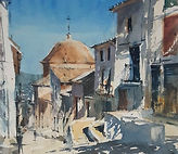 Down a Sunlit Street in Spain
