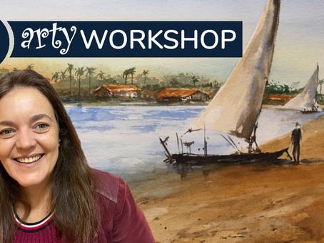Workshop: A Coastal Scene in Ceará State with Lilian Arbex