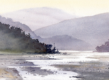 Creating space and light in a river landscape with David Bellamy