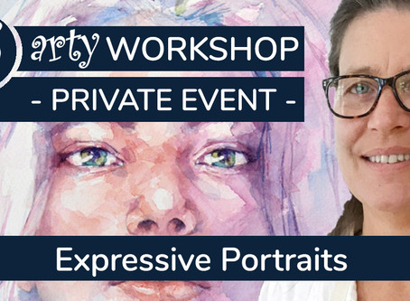 2hrs+ Workshop: Expressive Portrait in watercolour with Stephie Butler
