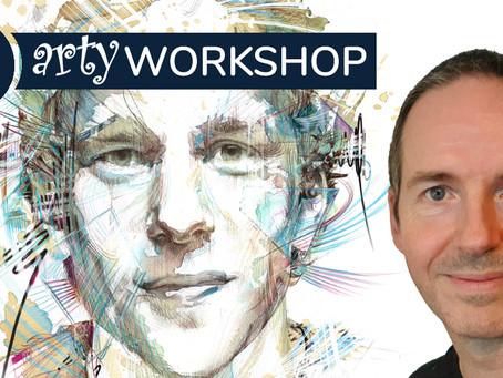 Digitally enhanced Textures & Portraits with Carne Griffiths