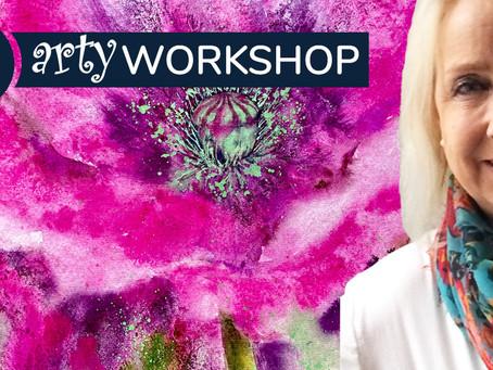 Workshop: Mixed medium poppy with Jane Betteridge