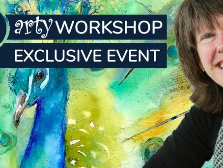 Workshop: Textured Peacock with Liz Chadderton