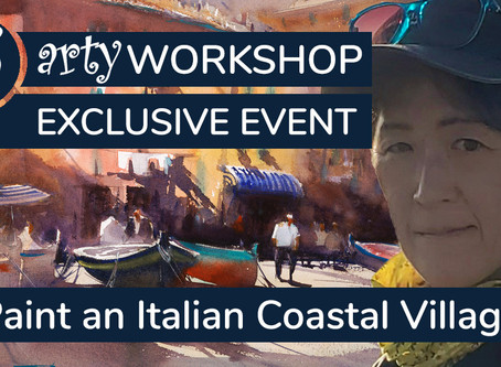 Workshop: Paint an Italian Coastal Village with Boats