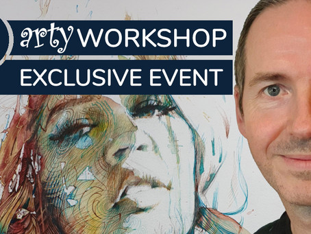 Workshop: Expressive Portraits in Ink & Tea with Carne Griffiths