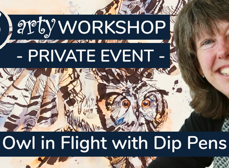 Workshop: Capturing an Owl in Flight using Pen & Wash