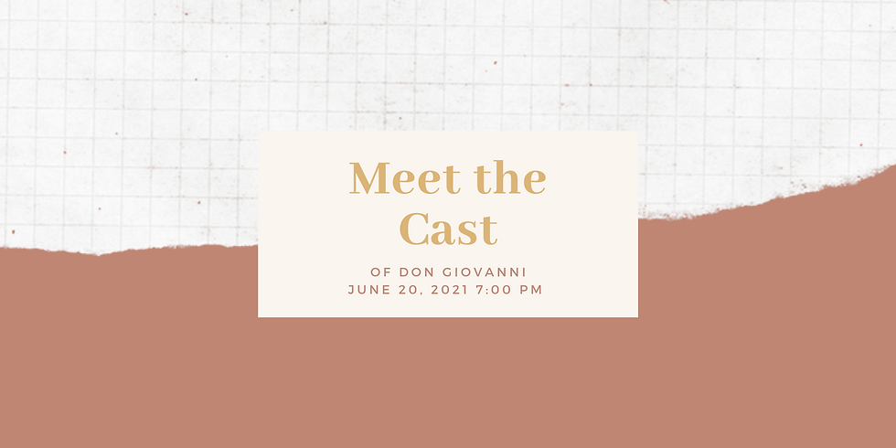 Meet the Cast of Don Giovanni