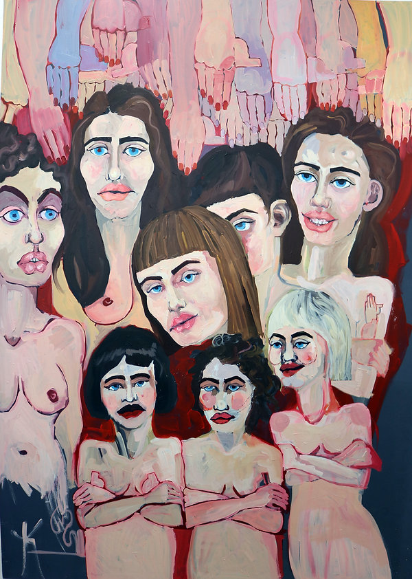 """Invisible Monsters- #1"", 2018, acrylic paint and oil on canvas, 100 x 140cm"