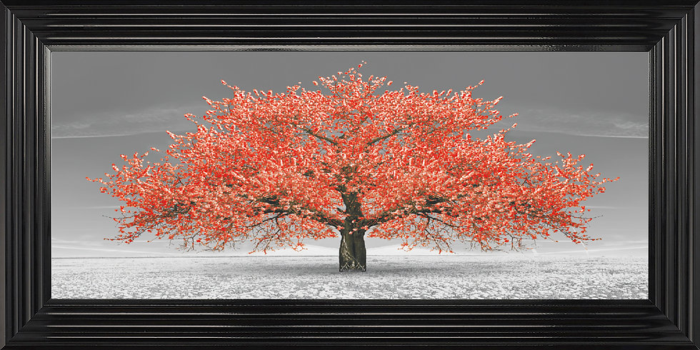 Cherry Blossom Tree Red
