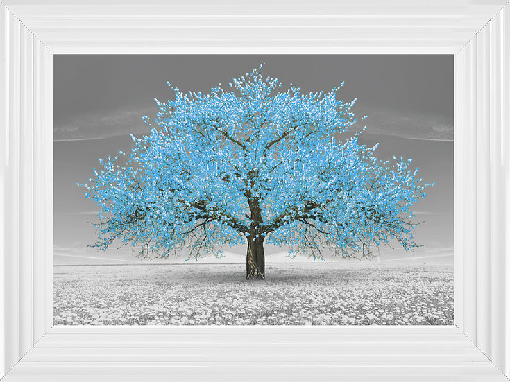 Cherry Blossom Tree Blue