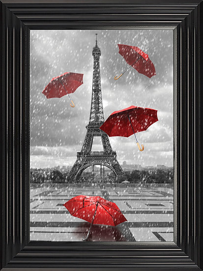 Eiffel Tower Umbrellas in Red