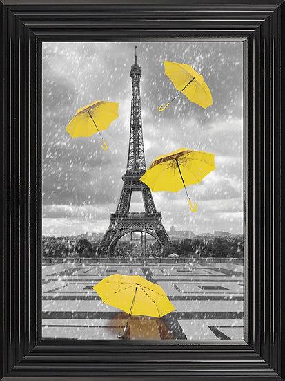 Eiffel Tower Umbrellas in Yellow